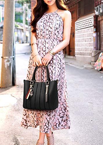 hombro Mujer Carteras Bolsos Shoppers clutches de y y bolsos de mano Marrón bandolera 0rxwIrqCS
