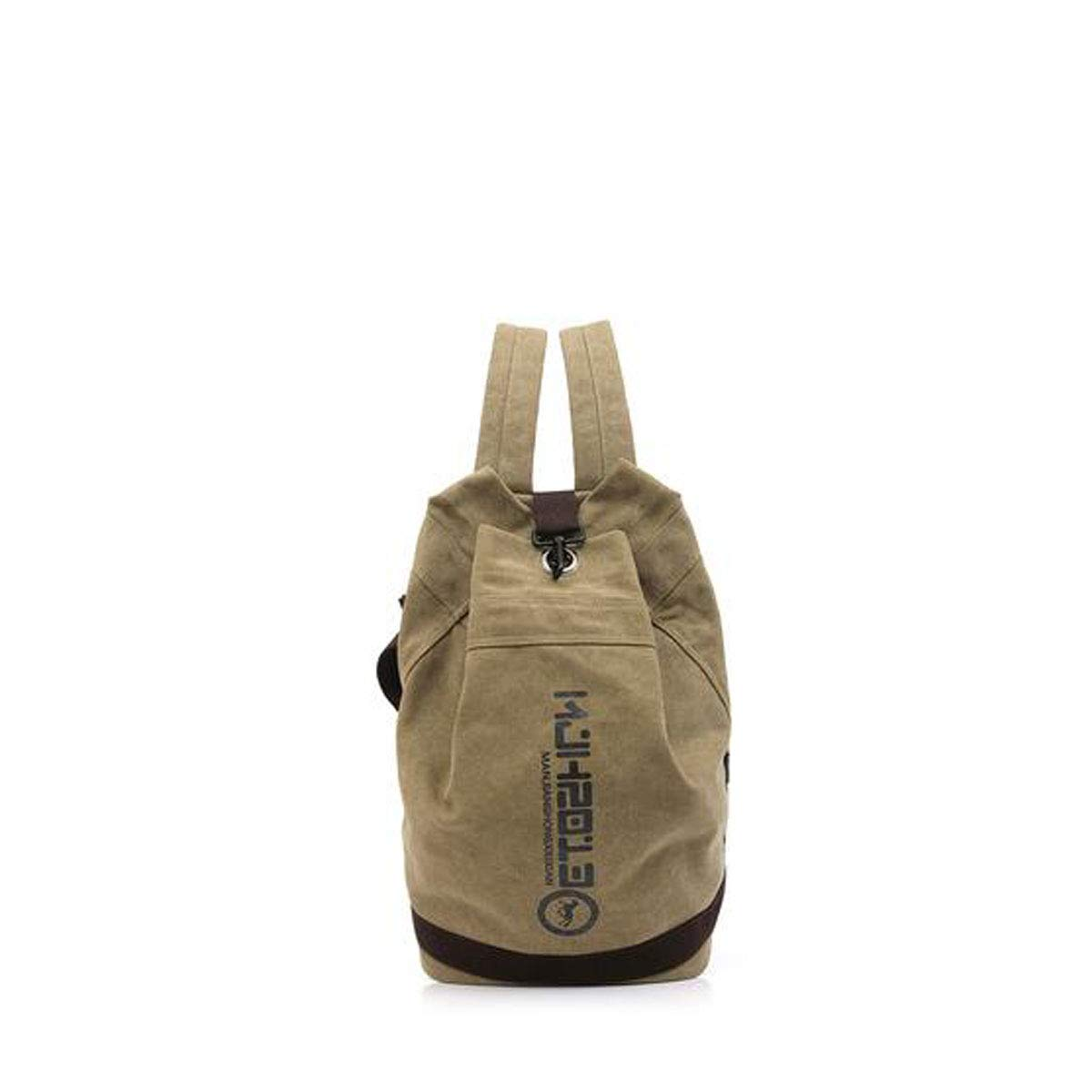 HENG Canvas Backpack, Vintage Canvas Hiking Backpack, Computer Backpack Unisex Casual Bag for Hiking, Traveling & Camping (color   Khaki)