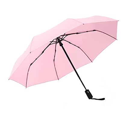 Chica sombrilla Plegable automática Paraguas de Tres Pliegues Soleado y lluviosa Día Paraguas Simple de Doble