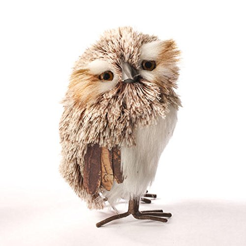 Soft Northern Saw-Whet Owl Table Top Decoration - ChristmasTablescapeDecor.com