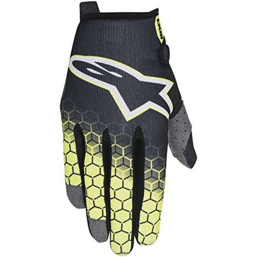 - Alpinestars Unisex-Child Youth Radar Flight Gloves (Anthracite/Yellow/Gray, Small)