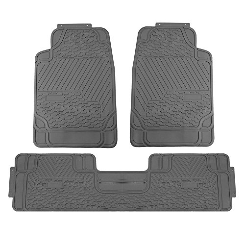 FH Group F11309GRAY Gray All Weather Floor Mat, 3 Piece (Heavy Duty)