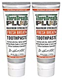Beauty : TheraBreath PLUS Professional Formula Fresh Breath Toothpaste - Extra Strength, 4 Ounce (Pack of 2)