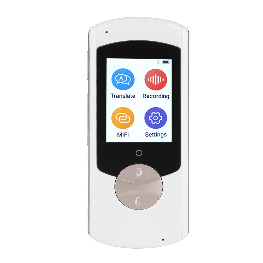 Eboxer Smart Language Translator Device, 41 Language traduzione simultanea a due vie Supporto WIFI Connection Voice Translator per Travel Learning Business Meeting(nero)