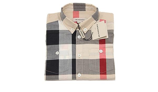Burberry - Camisa - para niño beige 95 cm: Amazon.es: Ropa