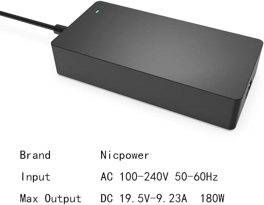 Amazon.com: Cargador adaptador de CA de 180 W y 150 W para ...