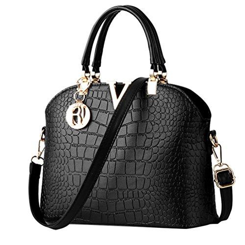 Cerui-Frauen-PU-Leder-Henkeltaschen-Schultertaschen-Tasche-Handtasche-Handtasche