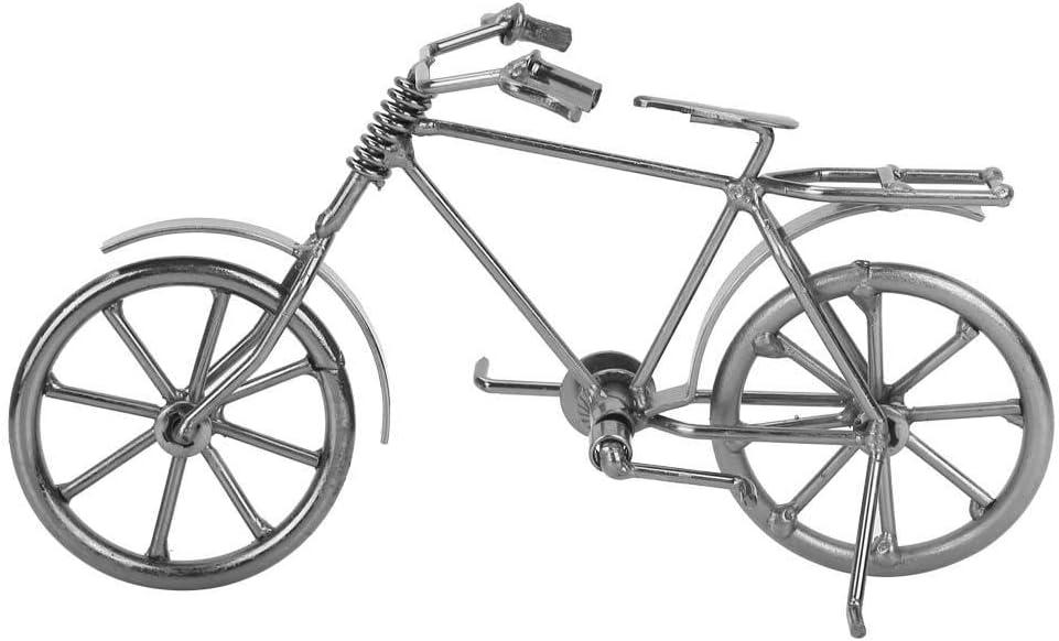 Adorno de Metal Estatuilla Bicicleta Hierro Fundido Artesanía Arte ...