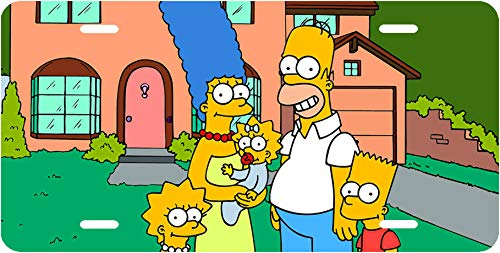 The Simpsons Bart Homer Marge Maggie Lisa License Plate ()