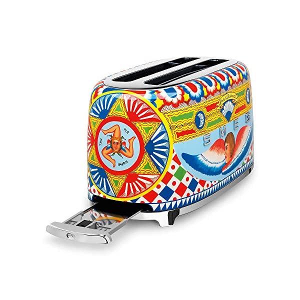 """Dolce and Gabbana x Smeg TSF02DGUS 4 Slice Toaster,""""Sicily Is My Love,"""" Collection 2"""