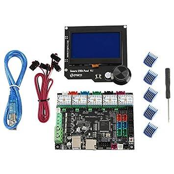 Moligh doll Placa Base de Impresora 3D Mks Sgen L + Tmc2209X5 ...