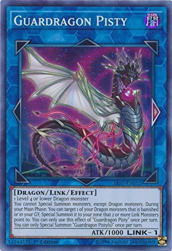 Yu-Gi-Oh! - Guardragon Pisty - SAST-EN052 - Savage Strike - First Edition - Super Rare