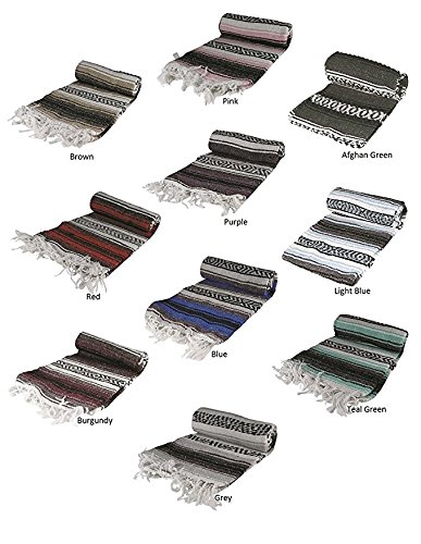 Price comparison product image Authentic 6' x 5' Mexican Siesta Blanket (Assorted Colors)