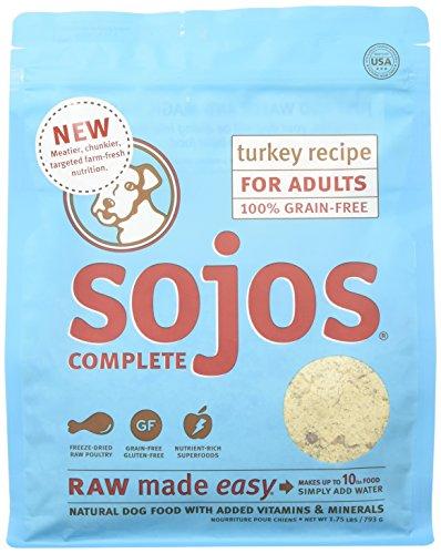 Complete Turkey - SOJOS Turkey Recipe Complete Adult Dog Food, 1.75 lb