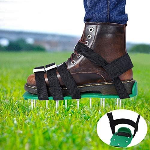 Jinyang Forniture orticole Garden Garden Attrezzi da giardino Grass Ripper Spiked Shoes with 8 Metal Buckles (Black) Jinyang (Color : Green) Green