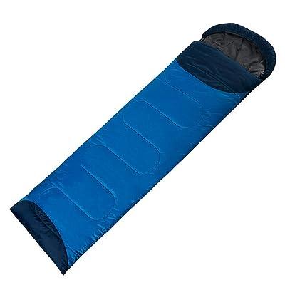 QFFL shuidai Enveloppe sac de couchage/Splicable/Outdoor Camping Randonnée Outdoor Rectangulaire Unique Épaissir Sac de couchage en coton (190 + 30) * 72cm
