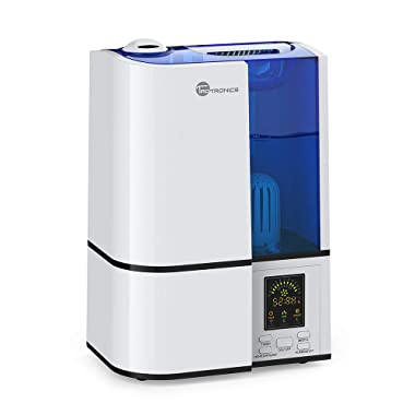 TaoTronics Cool Mist Humidifier, LED Display, 4L Ultrasonic Humidifiers for Home Bedroom, Quiet Operation, Adjustable Mist Levels, 360° Nozzle, Timer, Waterless Auto Shut-Off (4L/1.06 Gallon, US 110V)