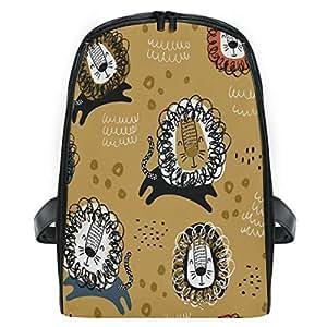 ZZXXB Lion Backpack Kids Toddler Child Preschool Kindergarten Waterproof Book Bags Travel Daypack for Boys and Girls