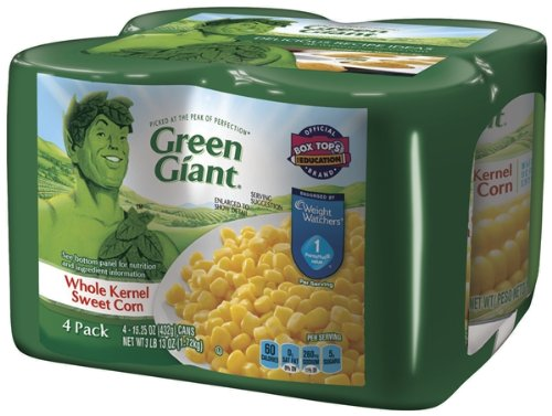 Green Giant Whole Kernel Sweet Corn, 61 Ounce (Pack of 6)