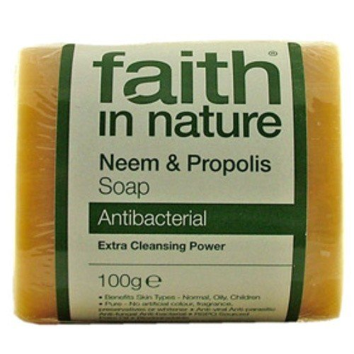 (10 PACK) - Faith in Nature - Neem & Propolis Pure Veg Soap | 100g | 10 PACK BUNDLE
