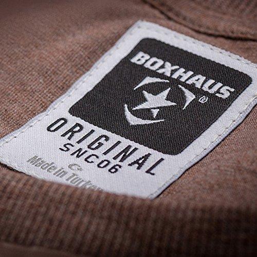 BOXHAUS Brand CRUZ Shirt brown htr