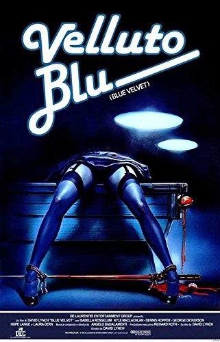 Blue Velvet Poster Italian Kyle MacLachlan Isabella Rossellini Dennis Hopper