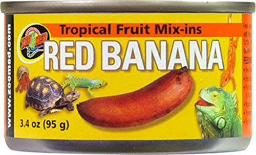 Zoo Med Tropical Fruit Mix-ins Red Banana Turtle Food, 3.4-Ounce (Box Turtle Canned Food)