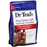 Dr.Teal's Pure Epsom Salt Foot Soak, Revitalize & Refresh 2 lb, 8 Count + Cleaning Cloth