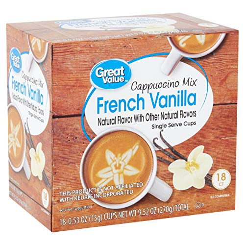 ((18 count) Great Value Cappuccino Mix French Vanilla, 0.53 oz)