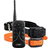 Aetertek 215C Waterproof Two Pet Dog E-collar Shock Collar Training System Stop Bark Tool 550M Remote Range Easy to use