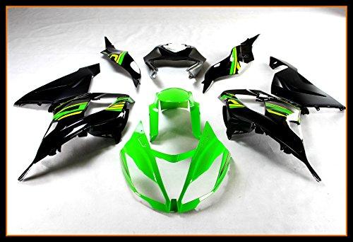- Protek ABS Plastic Injection Mold Full Fairings Set Bodywork With Heat Shield Windscreen for 2013 2014 2015 2016 Kawasaki Ninja ZX6R ZX636 ZX636E ZX636F Green Silver Black