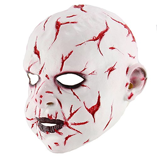 [Cosplay Halloween Costume Party Props Gruesome Bloody Night Fork Ghost doll Mask] (Ring Sadako Costume)