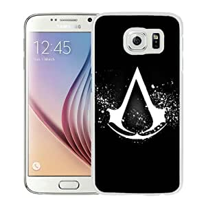 Fashionable And Unique Designed Case For Samsung Galaxy S6 Phone Case With Assassins Creed Logo White
