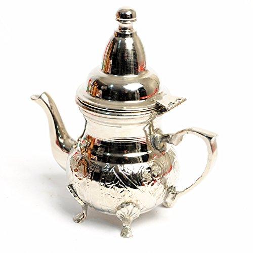 Gift Idea! Handmade Silver Plated Copper Creamer Moroccan Small Teapot