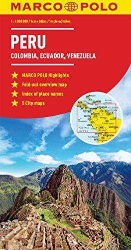 Peru, Colombia, Venezuela Marco Polo Map (Ecuador, Guyana, Suriname) (Marco Polo Maps)...