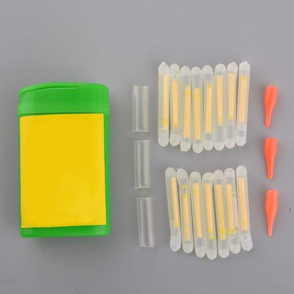 Talla /única Juego de 15 Mini Varillas Luminosas Que Brillan en la Oscuridad para Pesca One Color SEGRJ