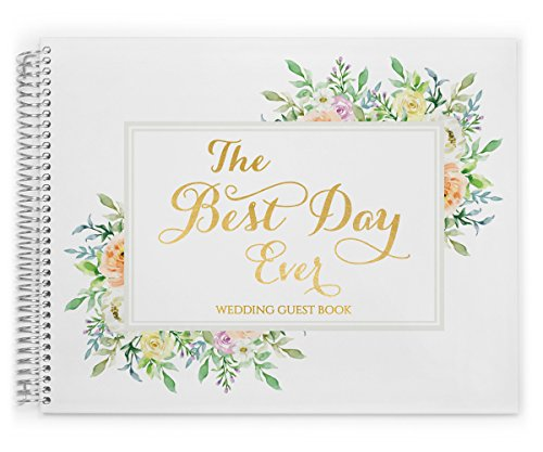 PurpleTrail Wedding Guest Book by, Wedding Reception Guest book, Foil Wedding Guest book, Best Day Ever by PurpleTrail
