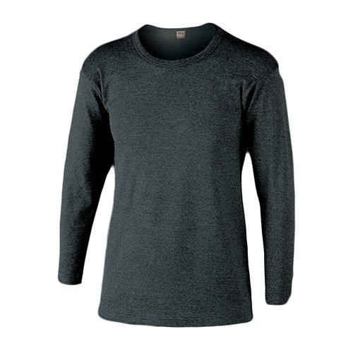 おたふく手袋 ボディータフネス 発熱・保温 テックサーモ インナーシャツ 長袖丸首 モクグレー L JW-169 5枚1セット