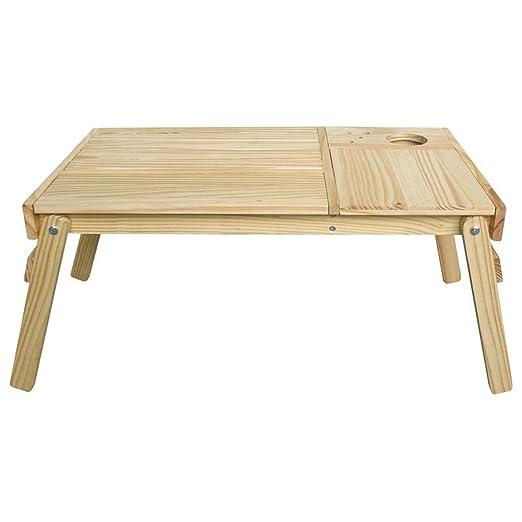 Escritorio plegable de madera maciza con casillero oculto para que ...