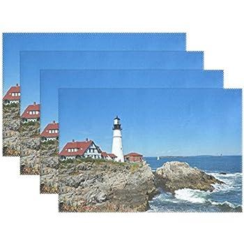 Amazon Com Carolina Lighthouses Washable Vinyl Placemats