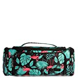 Lug Women's Trolley Cosmetic Case, Flamingo Black