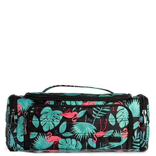 - Lug Women's Trolley Cosmetic Case, Flamingo Black