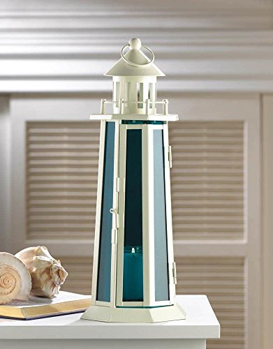 Nautical Candle Lamp White Lighthouse Lantern (White Lamp Lighthouse)