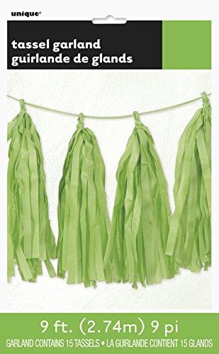 Green Tissue Paper Tassel Garland