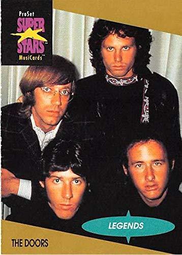 (The Doors trading card Jim Morrison Ray Manzarek Robby Krieger John Densmore 1991 Proset Music Super Stars #8 Touch Me Hello I Love You Light My Fire)