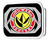 Power Rangers Live Action TV Series Dragon Zord Logo Rockstar Belt Buckle