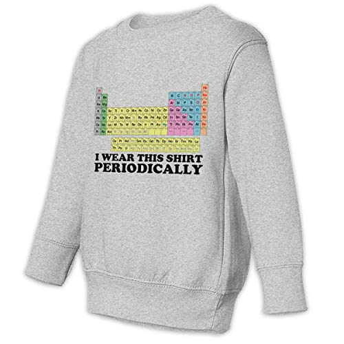 HDMWY Periodic Table Quantum Numbers Juvenile Children Boys Crewneck Pullover Sweater Long Sleeve ()