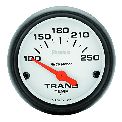 (Auto Meter 5757 Phantom Short Sweep Electric Transmission Temperature Gauge)