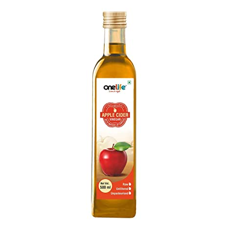 Buy Onelife Organic Apple Cider Vinegar with strand of mother, Raw,  Unfiltered, Unpasturised:500 ml Online at Low Prices in India - Amazon.in