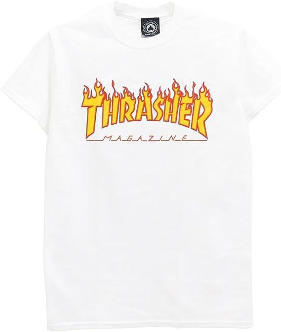THRASHER T-SHIRT スラッシャー Tシャツ FLAME(US規格) スケートボード スケボー SKATEBOARD